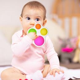 Jucarie senzoriala din silicon pentru educatia bebelusilor