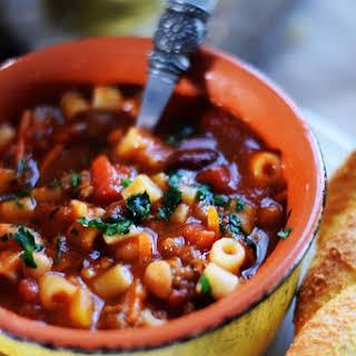 Pasta Fagioli Soup.