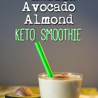 Low Carb Keto Vanilla Avocado Almond Smoothie
