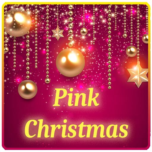 ピンクの輝きのクリスマスのテーマ 個人化 LOGO-玩APPs