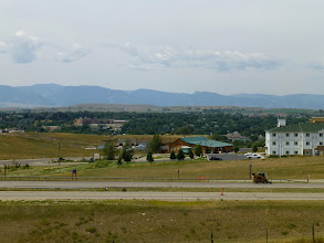 Photo: We revisited Sheridan from a couple weeks ago. It's pretty much the gateway town to the Big Horn Range. We stopped for lunch and to get info from the Welcome Center.