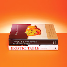 Photo: COOKS' BOOKS The A.O.C. Cookbook by Suzanne Goin '88 (Knopf).  Exotic Table: Flavors, Inspiration, and Recipes from Around the World—to Your Kitchen by Aliya LeeKong '00 (Adams Media).