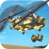 Helicopter Flying Cargo Jeep