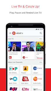 Airtel TV: Live TV, News, Movies & TV Shows Screenshot
