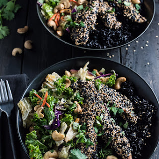 Crispy Sesame Chicken Asian Salad Bowl