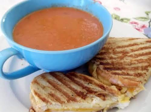 "MY Grilled Cheese and Tomato Soup""Seriously one of my favorite things to..."