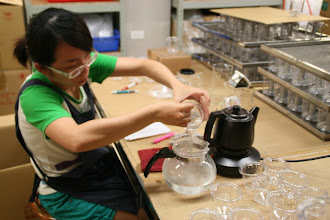 Photo: Every Piao I teapot is water tested before it is shipped.