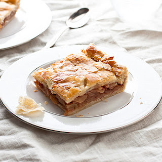 Bourbon Caramel Apple Slab Pie