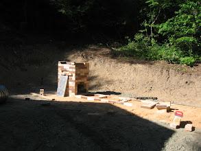 Photo: Building the prototype bourry box kiln.