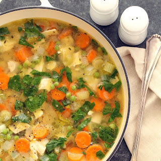 Spring Chicken Vegetable Soup.