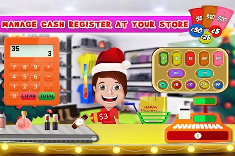 Santa Cash Register - Christmas Shopping Cashier - náhled
