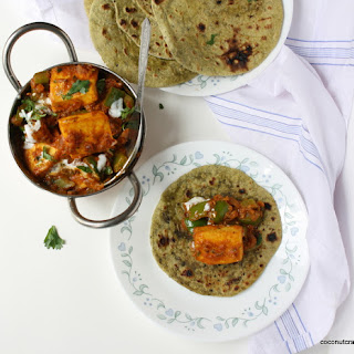 Kadai paneer/A spicy cottage cheese dish