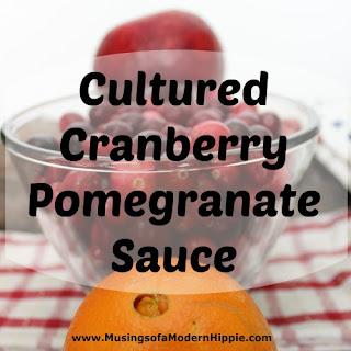 Cultured Cranberry Pomegranate Sauce