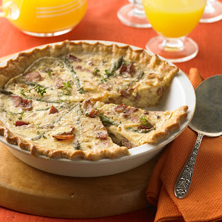 Ham, Bacon, and Caramelized Onion Tart.