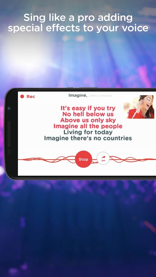 Red Karaoke Sing & Record- screenshot