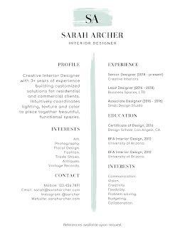 Sarah J. Archer - Resume item