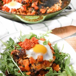 Harissa Chorizo Sweet Potato Hash