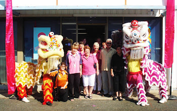 Photo: Some of the guests at our Official Opening with the Chung Wah Lion Dancers - 11 July 2009