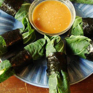 Raw Collard Wrap Springrolls Recipe
