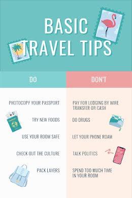 Basic Travel Tips - Pinterest Pin item