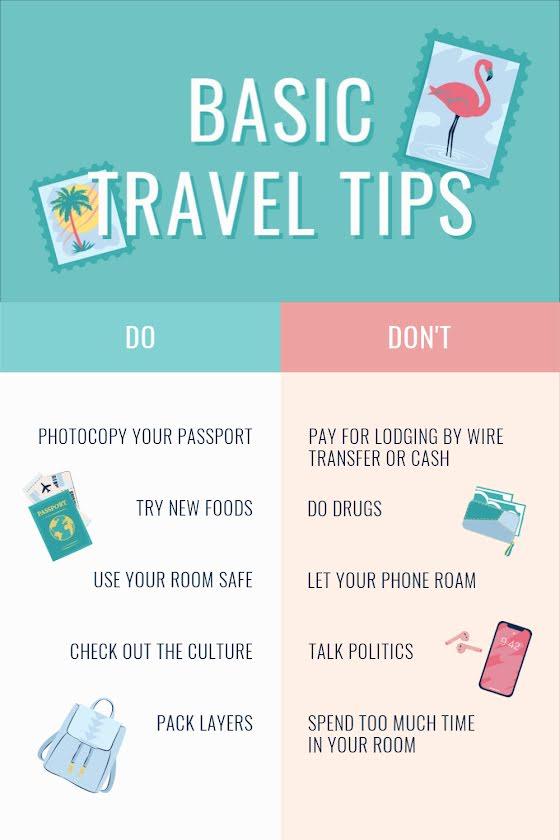 Basic Travel Tips - Pinterest Pin Template