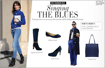 Photo: Singing The Blues From top to toe or as an accent, this royal hue will be making waves this season  Get the look: http://bit.ly/TQcKWQ