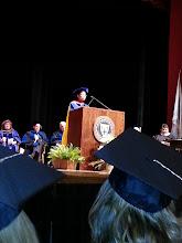 Photo: Stacy Davis announces the Gender & Women's Studies winners