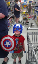 """Photo: This was his """"prize"""" for being a big boy all day. He proceeded to wear this around Walmart while we shopped and several people stopped to talk to him. Maybe OUR town needs some """"Old Fashioned"""" {teehee!!}"""