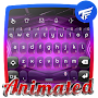 Digital purple Keyboard Animated APK icon