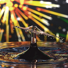 Water Droplet Collision by Micah Jaron Flack - Abstract Water Drops & Splashes ( firework, water droplet )