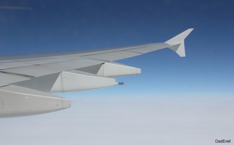 Aile Airbus A380 en plein ciel