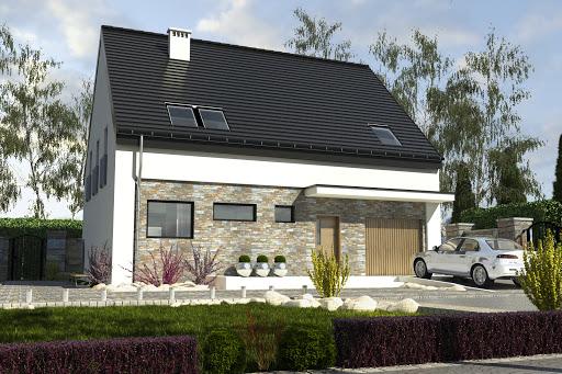 projekt Bernikla z garazem 1-st. A
