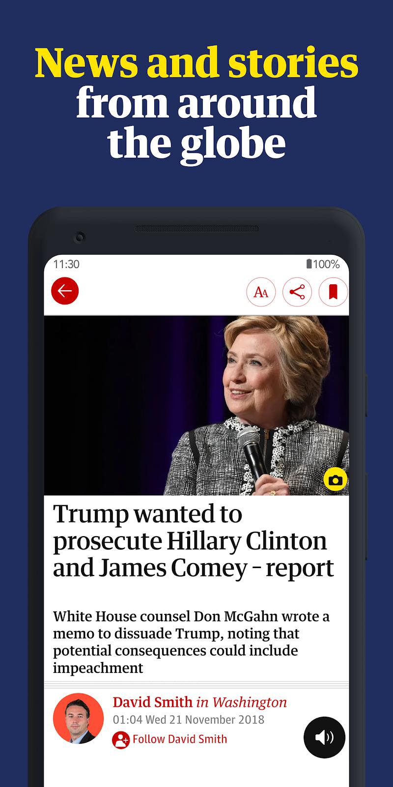 The Guardian: Top Stories, Breaking News & Opinion Screenshot 1