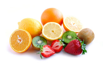 Photo: Assorted fruit on white background