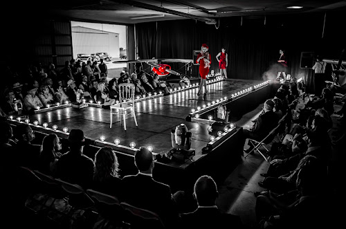 30s Hangar Fashion Show by Florin Marksteiner - People Fashion ( lights, hangar, black and white, fashion show, 30s, fashion photography, stage, planes, roaring,  )