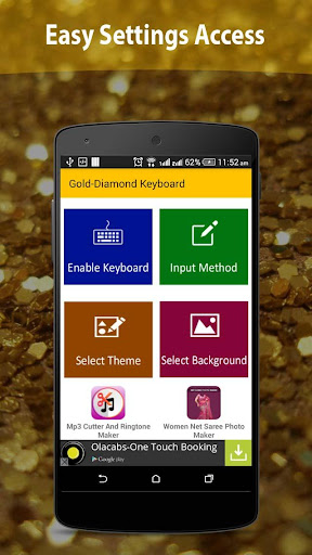 Gold Diamond Keyboard Free