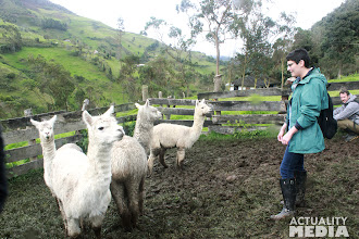 Photo: The FCT crew at an Alpaca farm in Sangay National Park