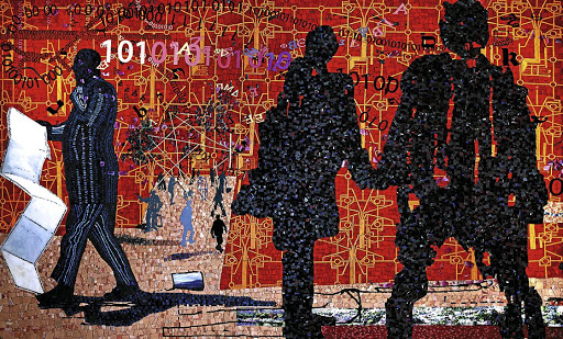 Wall art: This mosaic produced by students of the Spier Arts Academy is at Nando's King Cross restaurant in London. Picture: SUPPLIED