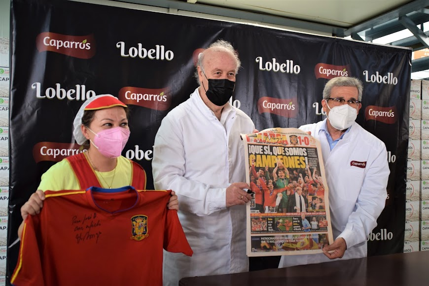 Del Bosque, recordando su triunfo en el Mundial.