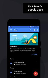 Swift Black Substratum Theme Screenshot
