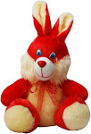 SUPER99 RED RABBIT - 25 cm  (Red and yellow)