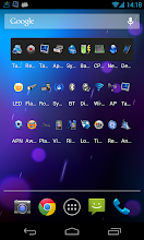 Photo: Top widget only includes shortcuts, last icon on the right is a shortcut on others