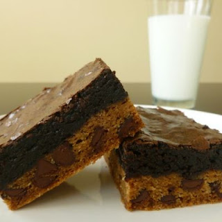 Luscious & Layered Chocolate Chip Brownies.