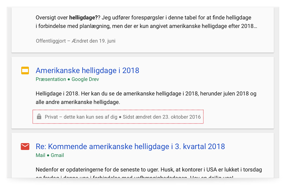 hjælpekort ti Cloud Search
