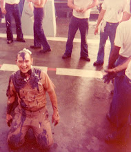 Photo: 1976 goodnatured Shellback BT Chief during Polywog Day.