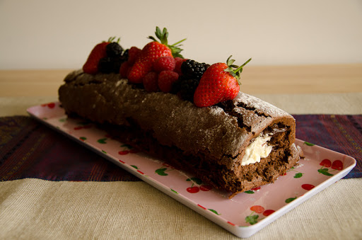 Delia's Squidgy Chocolate Log