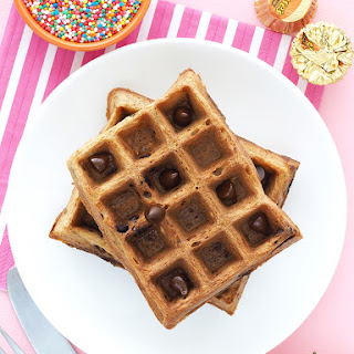 Chocolate Chip Oatmeal Waffles
