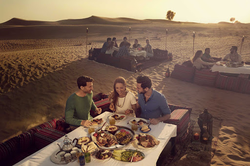 Get the full desert experience with a specially prepared feast in Dubai.