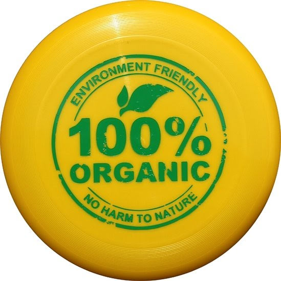 Frisbee av bioplast - gul