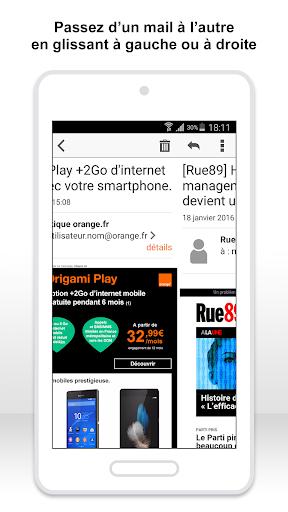 Mail Orange, 1er mail français screenshot 4